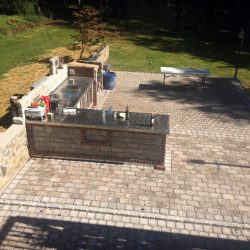 Natural Stone Work Outdoor kitchen and pavers
