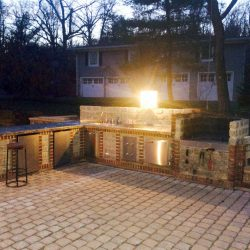 Natural Stone work outdoor patio